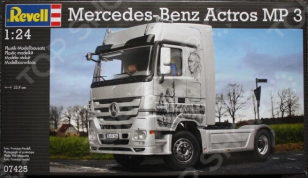 Сборная модель тягача Revell 07425R «Mercedes-Benz Actros MP3» indel b tb30am для mercedes actros mp4