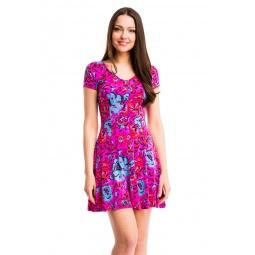 фото Платье Mondigo 7055-1. Цвет: фуксия. Размер одежды: 44