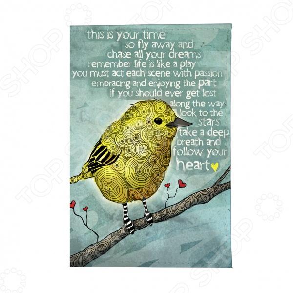 Обложка для автодокументов Mitya Veselkov «Птица» обложки mitya veselkov обложка для автодокументов котик под деревом