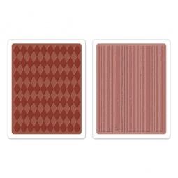 фото Форма для эмбоссирования Sizzix Texture Fades Ромбики и полоски
