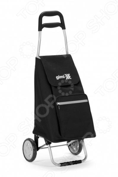 Сумка-тележка Gimi Argo отличная находка для тех, кто часто ездит по магазинам или на пикники, но при этом не любит таскать с собой тяжелые пакеты или сумки. Удобное приспособление представляет собой идеальное сочетание практичной сумки и удобной тележки. С ней вы сможете забыть о неудобных и постоянно рвущихся пакетах, которые не только мешаются, но и очень негативно влияют на окружающую среду. Сумка способна вместить до 45 л, поэтому вы её можете взять с собой даже на контрольную закупку. Большие колеса и устойчивый стальной каркас с пластмассовыми деталями обеспечат прекрасные износоустойчивые характеристики сумки. Преимущества сумки-тележки Gimi Argo:  прочная, легкая и изящная;  сверху закрыта кулисой, поэтому можете не переживать, что ваши продукты случайно промокнут под дождем;  водонепроницаемый материал сумки отличается простотой в уходе;  объемный передний карман на молнии и эргономичная ручка.
