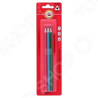 Набор карандашей простых Koh-I-Noor Triograph качественный канцелярский набор, который включает в себя 3 чернографитных карандаша. Каждый карандаш имеет удобную эргономичную форму и гладкий скользящий грифель, позволяющий писать легко с минимальным усилием. Благодаря специально разработанному составу грифеля и особой технике производства, данный карандаш обладает непревзойденной устойчивостью к поломке. Специальная обработка дерева позволяет легко затачивать карандаш.