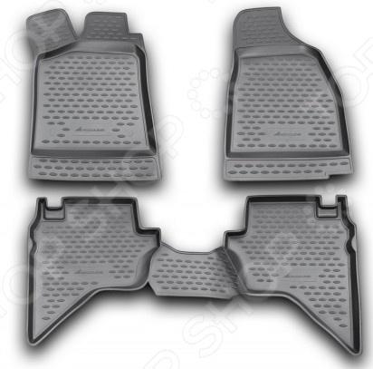Комплект ковриков в салон автомобиля Novline-Autofamily Mazda BT-50 2006Коврики в салон<br>Комплект ковриков в салон автомобиля Novline Autofamily Mazda BT-50 2006 поможет обеспечить чистоту и комфортные условия эксплуатации вашего автомобиля. Используйте эти коврики, чтобы защитить оригинальное покрытие пола от грязи, пыли, пятен и воздействия влаги. Изделия созданы из экологически чистого полимерного материала, прошедшего строгий гигиенический контроль. Оцените основные преимущества полиуретановых ковриков Novline:  Нейтральность к агрессивному воздействую различных химических сред.  Высокая устойчивость к значительным перепадам температур в диапазоне от -50 до 50 C .  Устойчивость к воздействию ультрафиолетовых лучей.  Значительно легче резиновых аналогов. Легко очищаются от грязи, обладают повышенной износостойкостью.  Свойства материала и текстура поверхности коврика обеспечивают противоскользящий эффект.  Форма ковриков разработана с учетом особенностей конкретной марки и модели автомобиля применяется технология 3D-сканирования для максимальной точности , что избавляет владельца от необходимости их подгонки под салон своей машины. Коврики надежно фиксируются на своих местах и не смещаются.  Передняя часть водительского ковра имеет специальную форму, исключающую зацепление педали за изделие.<br>