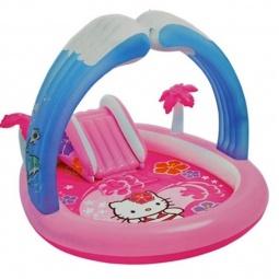 фото Бассейн с горкой надувной Intex с57137 Hello Kitty