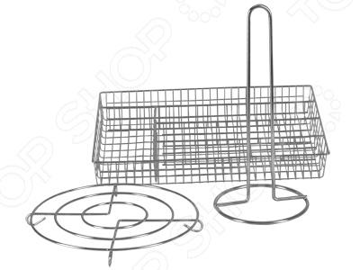 Набор кухонных аксессуаров Rosenberg 6212Кухонная мелочь<br>Набор кухонных аксессуаров Rosenberg 6212 это компактное и практичное решение для любой кухни, которое позволит вам забыть о трудностях сервировки стола, значительно экономя ваше время. Корпус всех подставок изготовлен из нержавеющей стали, что гарантирует длительный срок службы и хорошую износоустойчивость Размеры:  Подставка под полотенце: 14 х 14 х 30,5 см  Подставка под горячее: 22 х 22 х 3 см  Емкость для стол. приборов: 36 х 26 х 5 см<br>