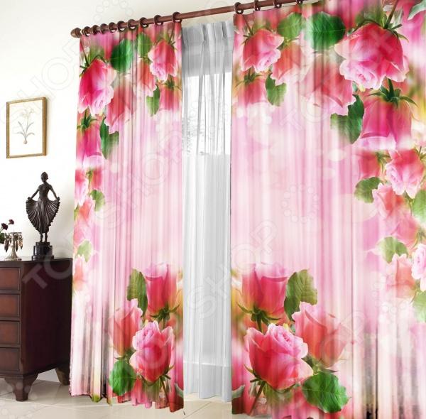 Шторы «Розовая арка» шторы для кухни drdeco шторы арка basilic дизайн 9