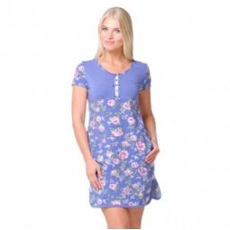 фото Платье женское Santi AW15-UAT-LDS-191. Рисунок: синие розы. Размер одежды: 46-48