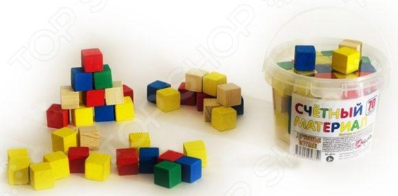Набор развивающий Русские деревянные игрушки «Кубики» Д013c деревянные игрушки анданте кубики пазл транспорт