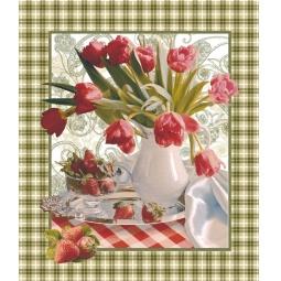 Купить Комплект из 3-х кухонных полотенец подарочный ТексДизайн «Беатрис, Фрукты, Сиеста»