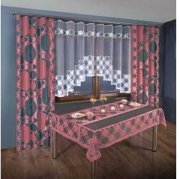 фото Комплект штор для кухни «Уют». Цвет: бордовый