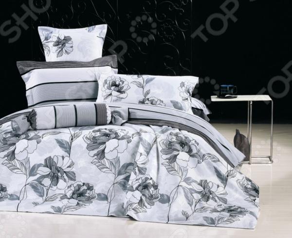 Комплект постельного белья La Noche Del Amor А-674. 1,5-спальный1,5-спальные<br>Комплект постельного белья La Noche Del Amor А-674 это удобное постельное белье, которое подойдет для ежедневного использования. Чтобы ваш сон всегда был приятным, а пробуждение легким, необходимо подобрать то постельное белье, которое будет соответствовать всем вашим пожеланиям. Приятный цвет, нежный принт и высокое качество ткани обеспечат вам крепкий и спокойный сон. Сатин, из которого сшит комплект отличается следующими качествами:  достаточно мягка и приятна на ощупь, не имеет склонности к скатыванию, линянию, протиранию, обладает повышенной гигроскопичностью, практически не мнется, не растягивается, не садится, не выгорает, гипоаллергенна, хорошо отстирывается и не теряет при этом своих насыщенных цветов;  современное нанесение рисунка прекрасно передаёт цвет и мельчайшие детали изображения;  за счёт специального переплетения волокон ткань устойчива к механическим воздействиям.  Перед первым применением комплект постельного белья рекомендуется постирать. Перед стиркой выверните наизнанку наволочки и пододеяльник. Для сохранения цвета не используйте порошки, которые содержат отбеливатель. Рекомендуемая температура стирки: 40 С и ниже без использования кондиционера или смягчителя воды. Постельное белье позволит разнообразить весь ваш интерьер. Ведь застеленная таким красивым комплектом кровать не может не привлекать взгляд. Приятная цветовая гамма и классический рисунок наполнят спальню особым шармом и теплом. Каждая минута, проведенная в комнате, будет вызывать исключительно приятные эмоции. Если к вам внезапно заглянут гости, то они без сомнения оценят ваш удачный вкус. В подарок идёт симпатичный магнитик, который принесет вам множество радостных моментов! Его можно использовать в качестве декорации холодильника или других металлических элементов. Этот комплект может стать прекрасным подарком на свадьбу или удачным подарком на любой праздник для ваших знакомых или родных!<br>