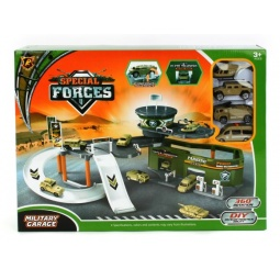 фото Набор игровой для мальчика Shantou Gepai с 4-мя машинками «Паркинг. Военная база»