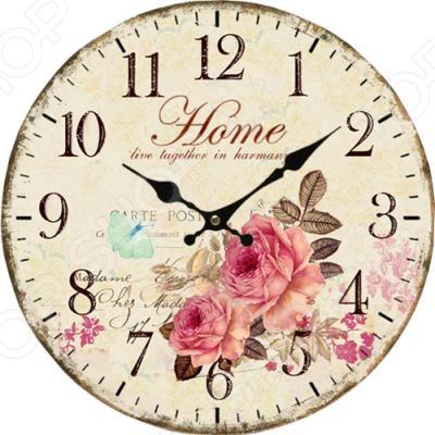 Часы настенные Irit «Розы»Часы настенные<br>Настенные часы это элегантный и неотъемлемый элемент дизайна любого помещения. Правильно подобранные часы позволяют внести в общий интерьерный ансамбль некоторую изюминку и легкий штрих индивидуальности, собственного стиля. Поэтому к подбору такого значимого и функционального украшения надо подходить с умом. Настенные часы от бренда Irit настоящей находкой для тех, кто следит за трендами современной моды и предпочитает классику. Часы настенные Irit IR-642 отлично впишутся в интерьер вашей гостиной, спальни, кухни или детской комнаты. Корпус кварцевых часов выполнен из МДФ, который гарантирует не только их легкость, но и практичность, легкий монтаж и уход. Циферблат данной модели оформлен стильным и красивым принтом. Эксклюзивный дизайн изделия позволит подчеркнуть оригинальность интерьера вашего дома и выразить вашу индивидуальность, а яркая и сочная расцветка превратит часы в настоящий источник хорошего настроения и вдохновения. Создайте неповторимую атмосферу уюта и комфорта с необычными настенными часами Irit IR-642! Питание осуществляется от 1 батарейки типа ААА.<br>