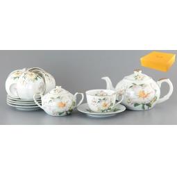 Купить Чайный набор с чайником Elan Gallery «Белый шиповник»