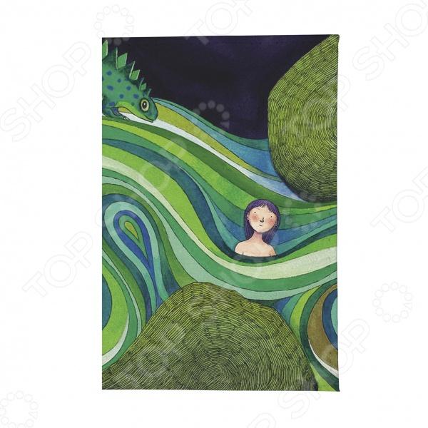 Визитница Mitya Veselkov «Девочка в зеленых волнах»Визитницы. Кредитницы<br>Визитница Mitya Veselkov Девочка в зеленых волнах представляет собой аксессуар, предназначенный для размещения и хранения визиток и дисконтных карт. Визитница - неотъемлемый аксессуар, дополняющий образ современного делового человека. Такая визитница представит вас в выгодном свете перед сотрудниками и партнерами и оставит положительное впечатление. Интересный и стильный аксессуар станет приятным и полезным подарком для деловых людей. К визитнице прилагается прозрачная пластиковая вкладка на 36 визиток или 36 пластиковых карт. Размер вкладки: 6см х 9,5см.<br>