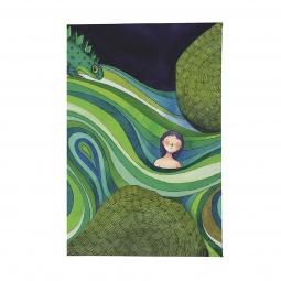 фото Визитница Mitya Veselkov «Девочка в зеленых волнах»