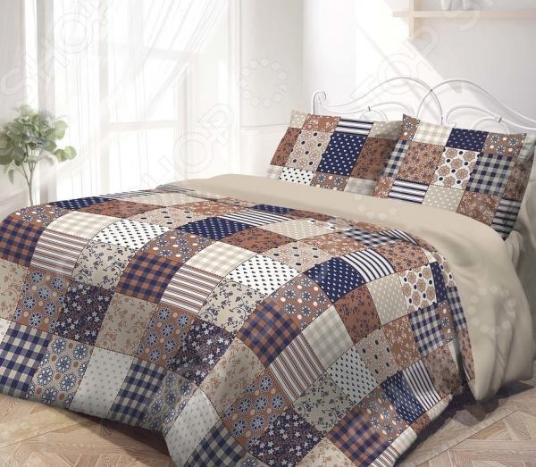 Комплект постельного белья Гармония «Печворк». 2-спальный2-спальные<br>Комплект постельного белья Гармония Печворк из высококачественного материала поплин. Он отличается прочностью, приятный на ощупь и имеет гладкую шелковистую поверхность. Материал не требует к себе особого ухода, стойко переносит ручную и машинную стирку в различных режимах. После множественных обработок ткань не садится, сохраняет яркость и сочность цветов, не растягивается и не истончается. Комплект отличается очень оригинальным рисунком, напоминающим лоскутное шитье, которым занимались еще наши бабушки. Несомненно, такая расцветка перенесет в детство, поднимет настроение и заставит улыбнуться. А еще она создаст все условия для того, чтобы ваш сон был спокойным и крепким. Комплект белья Гармония Печворк соответствует всем стандартам качества, не имеет постороннего неприятного запаха. В процессе изготовления использовались только самые качественные краски и 100 хлопок.<br>