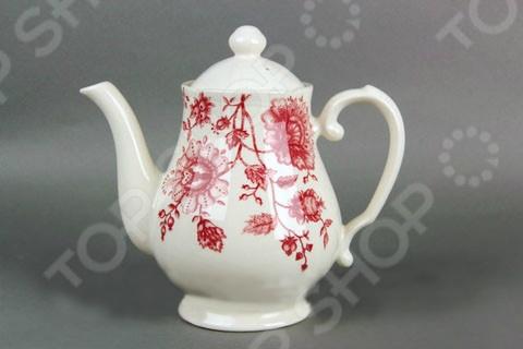 Чайник фарфоровый Коралл «Клермонт» посуда из фарфора оптом