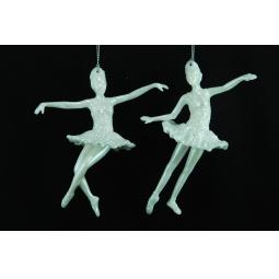 фото Елочное украшение Crystal Deco «Балерина». В ассортименте. Цвет: белый