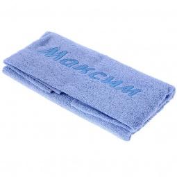 фото Полотенце подарочное с вышивкой TAC Максим. Цвет: голубой