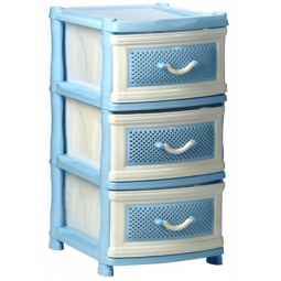 фото Комод 3-х секционный IDEA М 2789. Цвет: белый, голубой