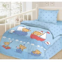 фото Детский комплект постельного белья Облачко «Отважные моряки»