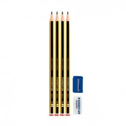 Купить Набор карандашей с ластиком и точилкой Staedtler 120S1BK4D
