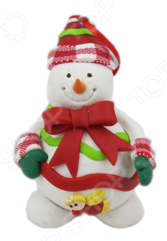 Подвес декоративный Crystal Deco «Фигурка снеговика» 1707873