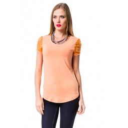 фото Футболка Mondigo 8573. Цвет: персиковый. Размер одежды: 44