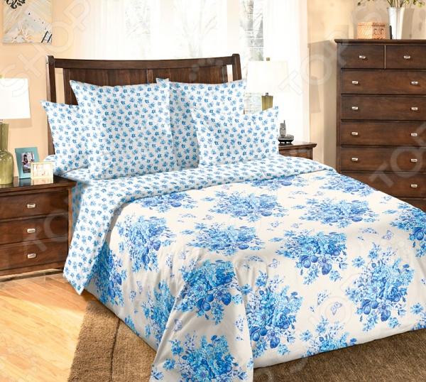 Комплект постельного белья Белиссимо «Амели». Цвет: голубой комплект мебели для спальни трия амели к1