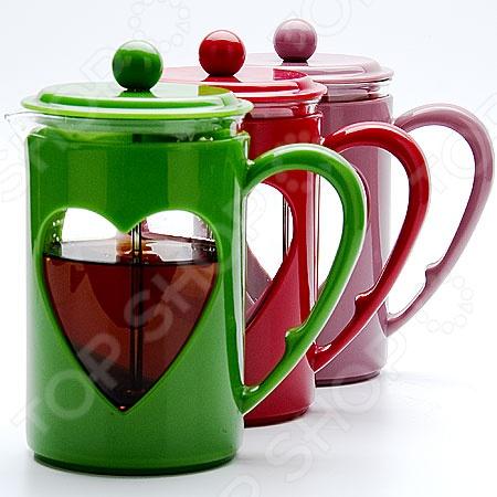 Френч-пресс Mayer&amp;amp;Boch MB-23226. В ассортиментеФренч-прессы<br>Товар продается в ассортименте. Цвет изделия при комплектации заказа зависит от наличия товарного ассортимента на складе. Френч-пресс Mayer Boch MB-23226 создан для приготовления кофе способом настаивания и отжима. Процесс получения необычного напитка займет не более 5 минут. В заварник засыпается кофе крупного помола и заливается горячей водой, а затем настаивается около 4 минут. Потом необходимо нажать на специальный вертикальный стержень с сетчатым фильтром в основании, который прижмет кофейную гущу ко дну. Кофе с насыщенным вкусом и ароматом готов.<br>