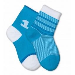фото Комплект детских носков Teller Number One. Цвет: бирюзовый. Размер: 23-26