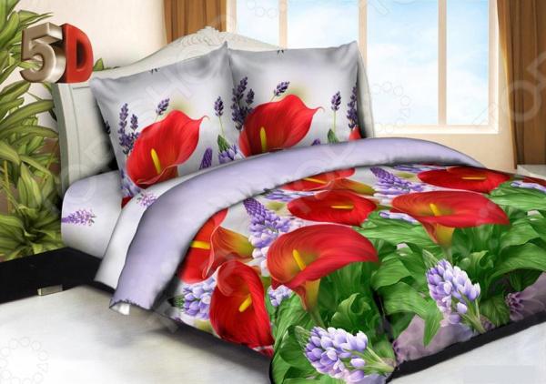 Комплект постельного белья «Летний день». ЕвроЕвро<br>Комплект постельного белья Летний день это удобное постельное белье, которое подойдет для ежедневного использования. Чтобы ваш сон всегда был приятным, а пробуждение легким, необходимо подобрать то постельное белье, которое будет соответствовать всем вашим пожеланиям. Приятный цвет, чарующий принт и высокое качество ткани обеспечат вам крепкий и спокойный сон.  Восхитительный цветочный рисунок нанесен с применением современных технологий 5D печати. От чарующего своей красотой изображения сложно оторвать взгляд.  Элементы комплекта выполнены из микрофибры. Ткань приятная на ощупь, хорошо впитывает влагу. Однако жидкость не проникает внутрь волокна. В результате влага не задерживается внутри материала. Перед первым применением комплект постельного белья рекомендуется постирать. Перед стиркой выверните наизнанку наволочки и пододеяльник. Для сохранения цвета не используйте порошки, которые содержат отбеливатель. Рекомендуемая температура стирки: 30 С и ниже без использования кондиционера или смягчителя воды. Внимание, изображение на ткани может незначительно отличаться от представленного на обложке.<br>