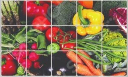 Экран защитный кухонный Bradex «Овощи» экран защитный кухонный фрукты