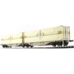 фото Вагон для перевозки грузов Mehano SGGMRSS 90' AAE dry cnt (Warsteiner)