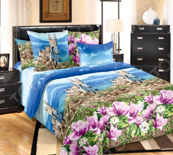 Комплект постельного белья Королевское Искушение с компаньоном «Ласточкино гнездо» постельное белье ласточкино гнездо перкаль семейный
