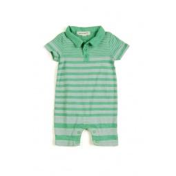 Купить Комбинезон для мальчика Appaman Slub Polo Romper. Цвет: зеленый