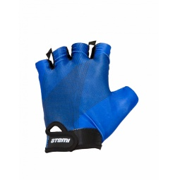 фото Перчатки велосипедные облегченные Atemi AGC-01. Цвет: синий. Размер: L