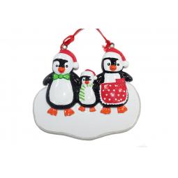 фото Елочное украшение Crystal Deco «Пингвины»