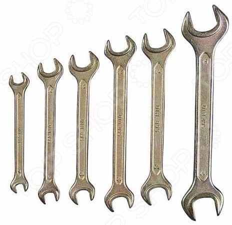 Набор ключей рожковых Stayer «Техно» 27040-H6 набор гаечных рожковых ключей 6 24мм 8шт stayer profi 27037 h8