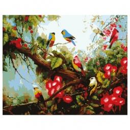 фото Набор для росписи по холсту Росмэн «Райские птички»