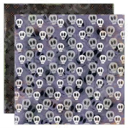 Бумага для скрапбукинга двусторонняя Fancy Pants Skull белоснежка наборы для скрапбукинга набор бумаги романтика 011 sb