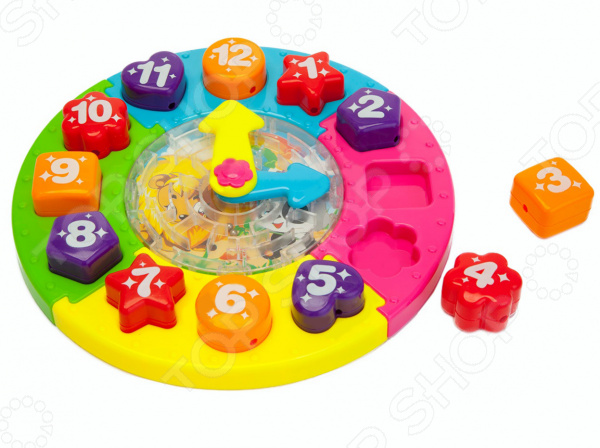 Сортер-часы Bradex «Учимся играя»Сортеры<br>Сортер-часы Bradex Учимся играя станет чудесным подарком для вашего любимого крохи. Игры с ним будут способствовать развитию у малыша мелкой моторики рук, внимательности и зрительной памяти. Сортер совмещает в себе целых пять увлекательных игр и позволяет обучить ребенка времени и названиям цветов, форм и цифр. Внутри игрушки также имеется лабиринт. Изделие изготовлено из высококачественного ABS-пластика и предназначено для детей в возрасте от 3-х лет.<br>