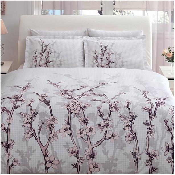 фото Комплект постельного белья Tac White Garden. 2-спальный
