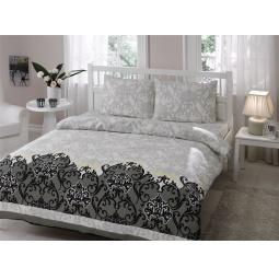 фото Комплект постельного белья TAC Sasha. 1,5-спальный. Цвет: серый
