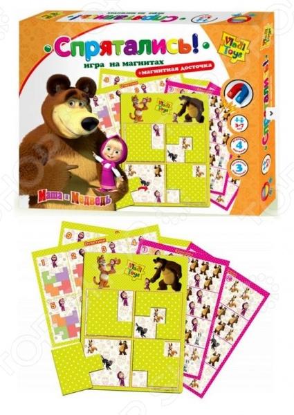 Игра развивающая на магнитах Vladi Toys «Спрятались»Магнитные игры<br>Игра развивающая на магнитах Vladi Toys Спрятались - великолепная развивающая и обучающая игра на магнитах, которая станет любимой игрушкой вашего малыша. Интеллектуальная игра позволит развить у ребенка внимательность, память, логическое и пространственное мышление. В этой игре ребенку нужно будет всего лишь закрыть фигурными магнитами лишних персонажей, так, чтобы на поле остались только те, кто был указан в задании. Всего заданий - 16, поэтому малыш быстро научится различать разнообразные предметы.<br>