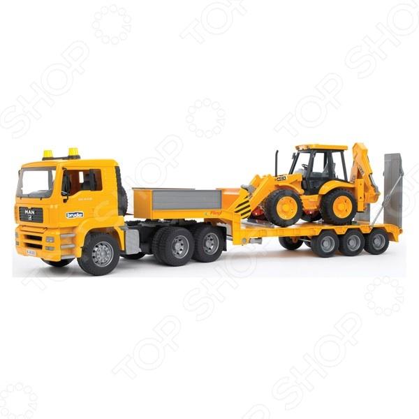 Машинка игрушечная Bruder «Тягач с прицепом и платформой» MAN куплю седельный тягач в сцепке б у