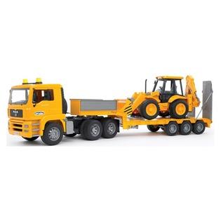 Купить Машинка игрушечная Bruder «Тягач с прицепом и платформой» MAN