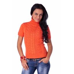 фото Свитер вязаный Mondigo 9004. Цвет: оранжевый. Размер одежды: 42