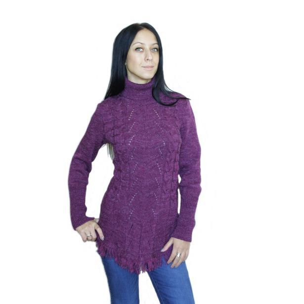 фото Туника Milana Style Лиза. Цвет: баклажановый. Размер одежды: 48
